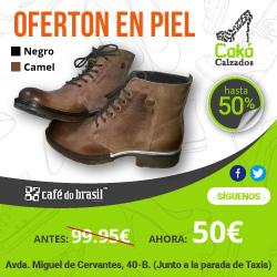 Botas de Piel Cafe do Brasil al 50%